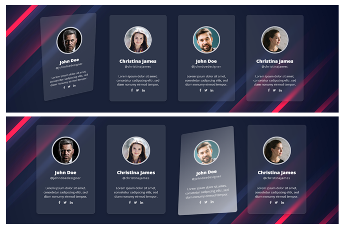GLASSY CSS CARDS - 1